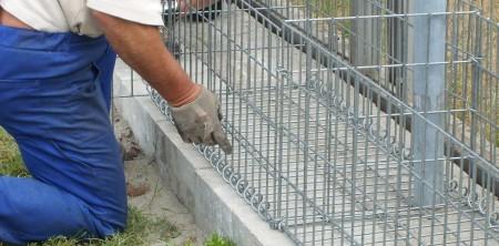 Usługi montażu gabionów